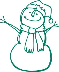 snowman green